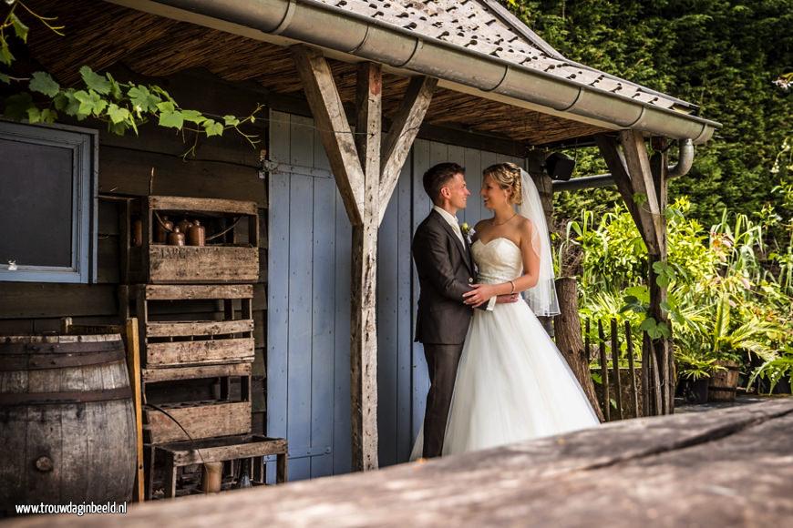 Babs bij het huwelijk van Tim & Kim Domaine D'Heerstaayen