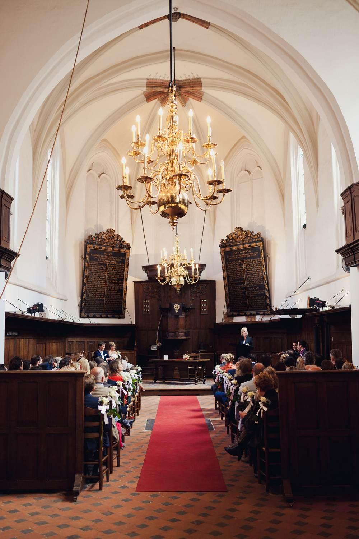 Civil marriage in church in Breda