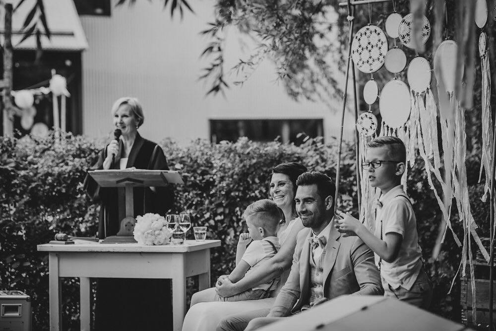 Trouwceremonie met kinderen