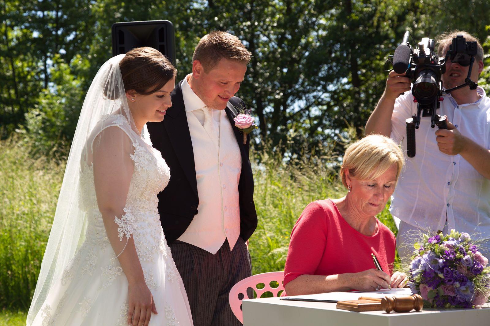 Engelstalige trouwceremonie Paviljoen Puur Diemen