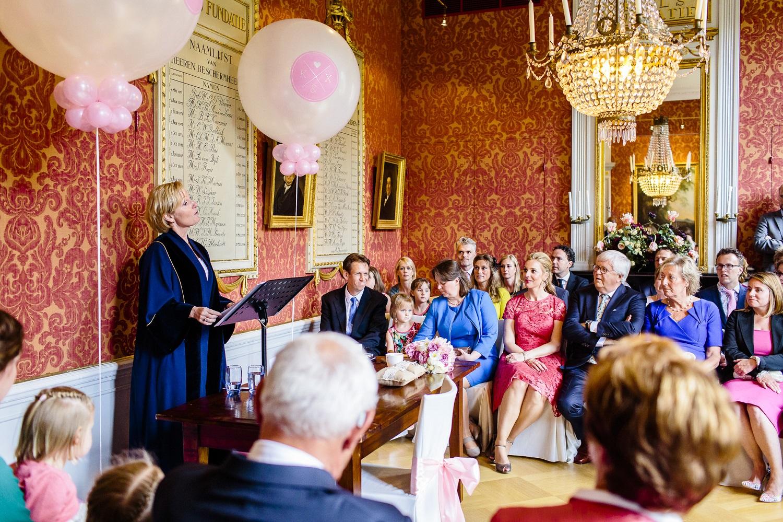Bruiloft in Kuyl's Fundatie Rotterdam