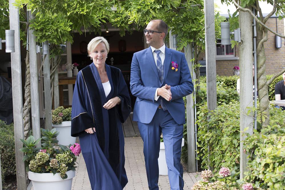 Buitengewoon trouwambtenaar in De Brasserij Delft huwelijk Jacoline & Peter 2017