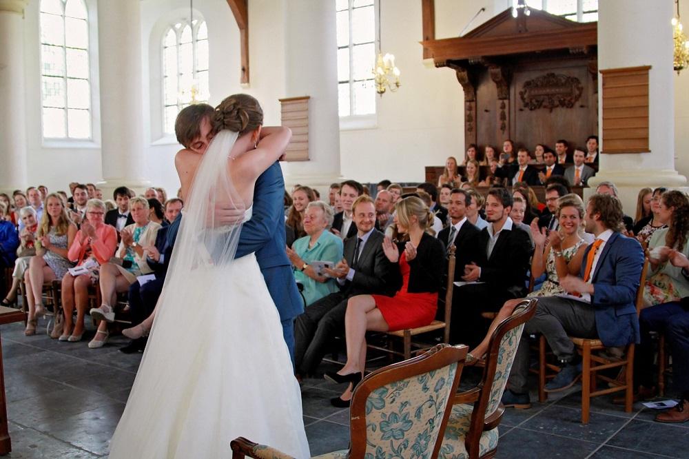 Trouwceremonie in kerk Leiderdorp