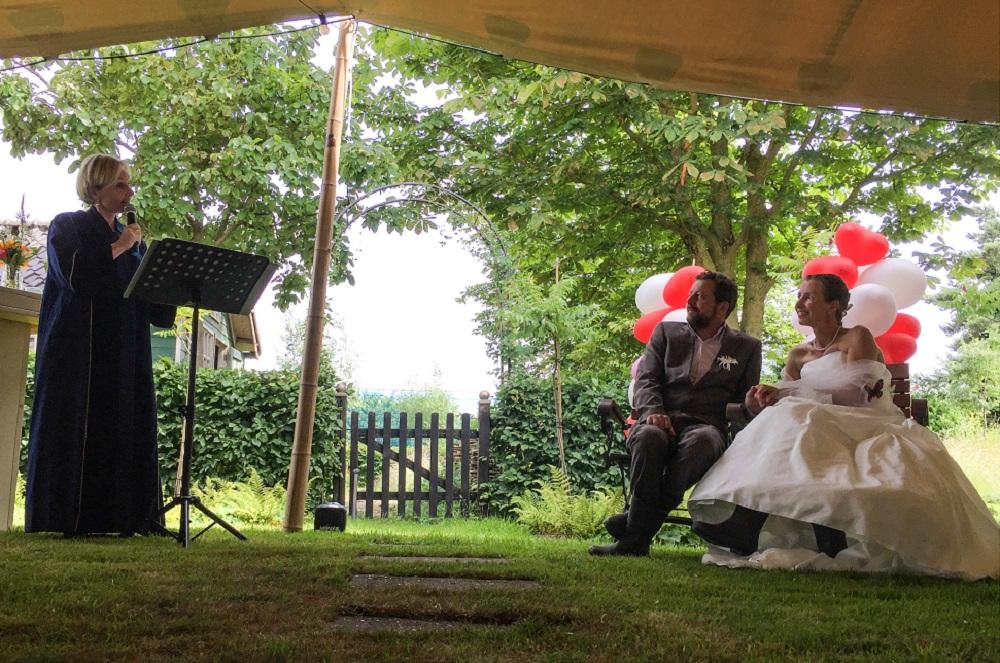 Bart en Ada- trouwen in eigen tuin- Culemborg