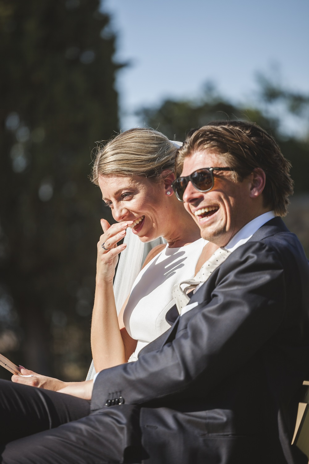 Emotion and humor in the wedding ceremony