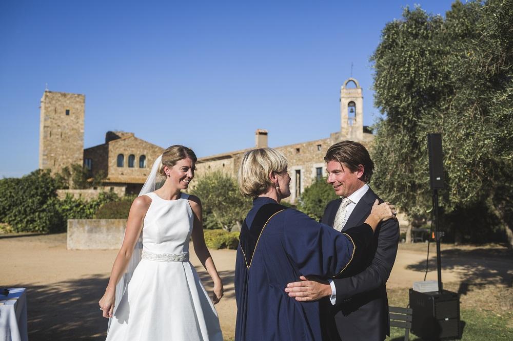 Wedding ceremony Spain la Bisbal